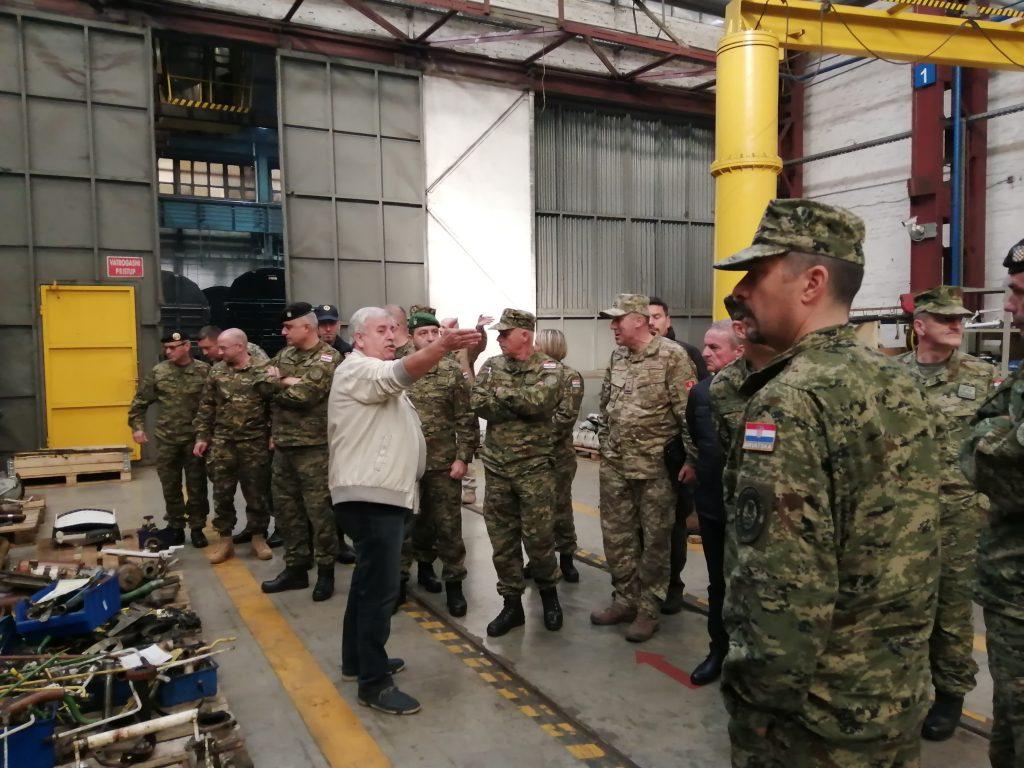 Polaznici Ratne škole na putovanju u istočnoj Slavoniji, Baranji i Srijemu